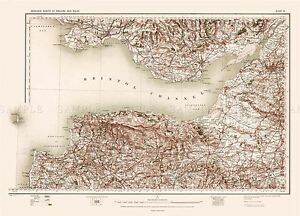 MAP-ANTIQUE-1902-OS-UK-BRISTOL-CHANNEL-OLD-LARGE-REPLICA-POSTER-PRINT-PAM0397