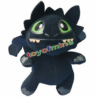 7'' Cartoon Movie How To Train Your Dragon Toothless Night Fury Plush Toy Doll