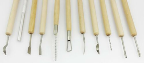 NEW 11pc Clay Sculpting Set Wax Carving Pottery Tools Shapers Polymer Modeling