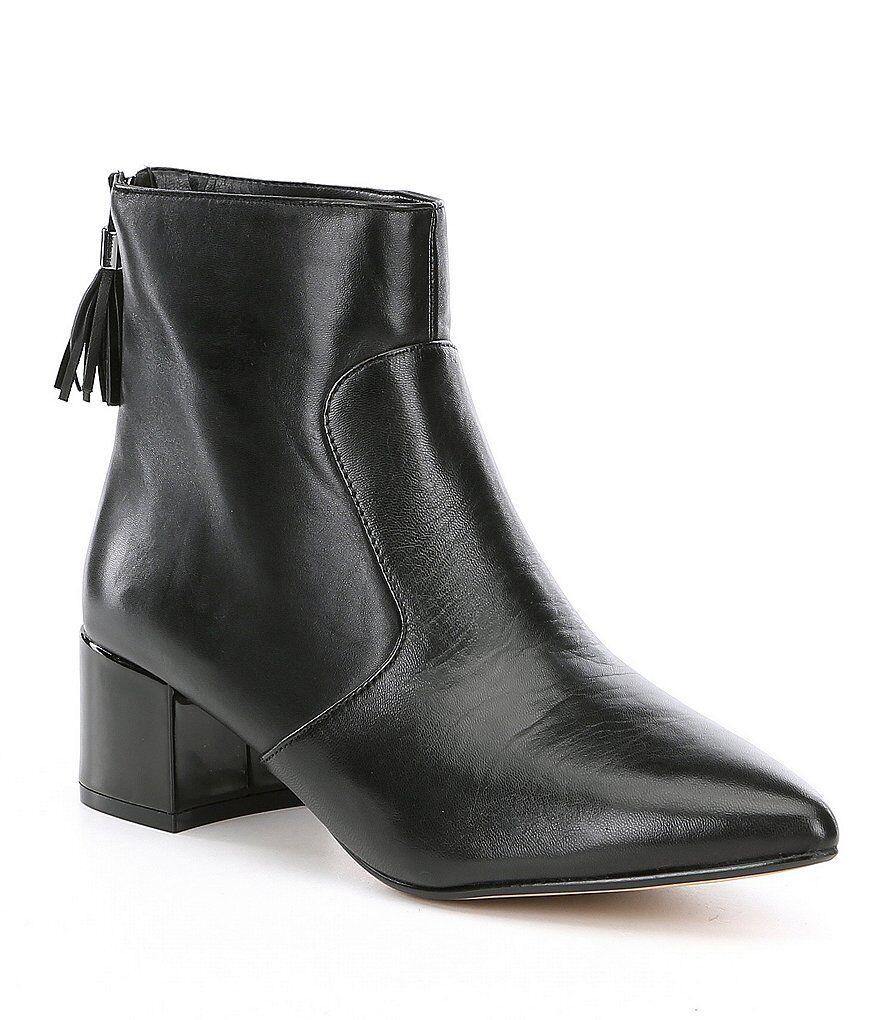 Karl Lagerfeld París Maude mezcla Media Cremallera 7 Cuero Negro Negro Negro botas al tobillo Botines Nuevo  punto de venta barato