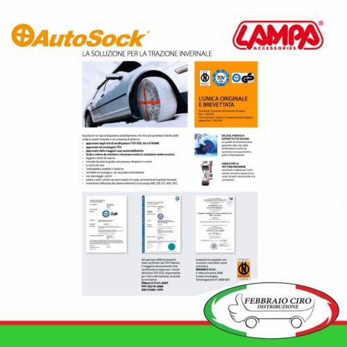 Taglia 58 Gomme 185//55R15 Coppia Calze da Neve Autosock Standard 105801010