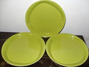 3-Rachael-Ray-Round-and-Square-Green-Apple-Salad-Lunch-Plates-VGC