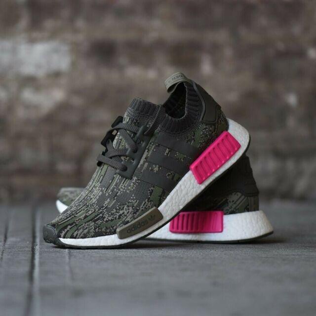 Adidas Originals NMD_R1 PK Primeknit Grey Shock Pink BZ0222 Sz 8 Retail $170