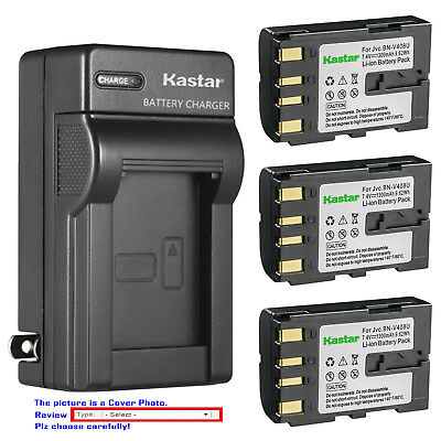 Kastar Battery Wall Charger for JVC BNV408   JVC    GR