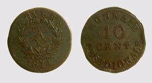 030-French-States-ANTWERP-10-Centimes-1814-KM-7-2-moneta-ossidionale