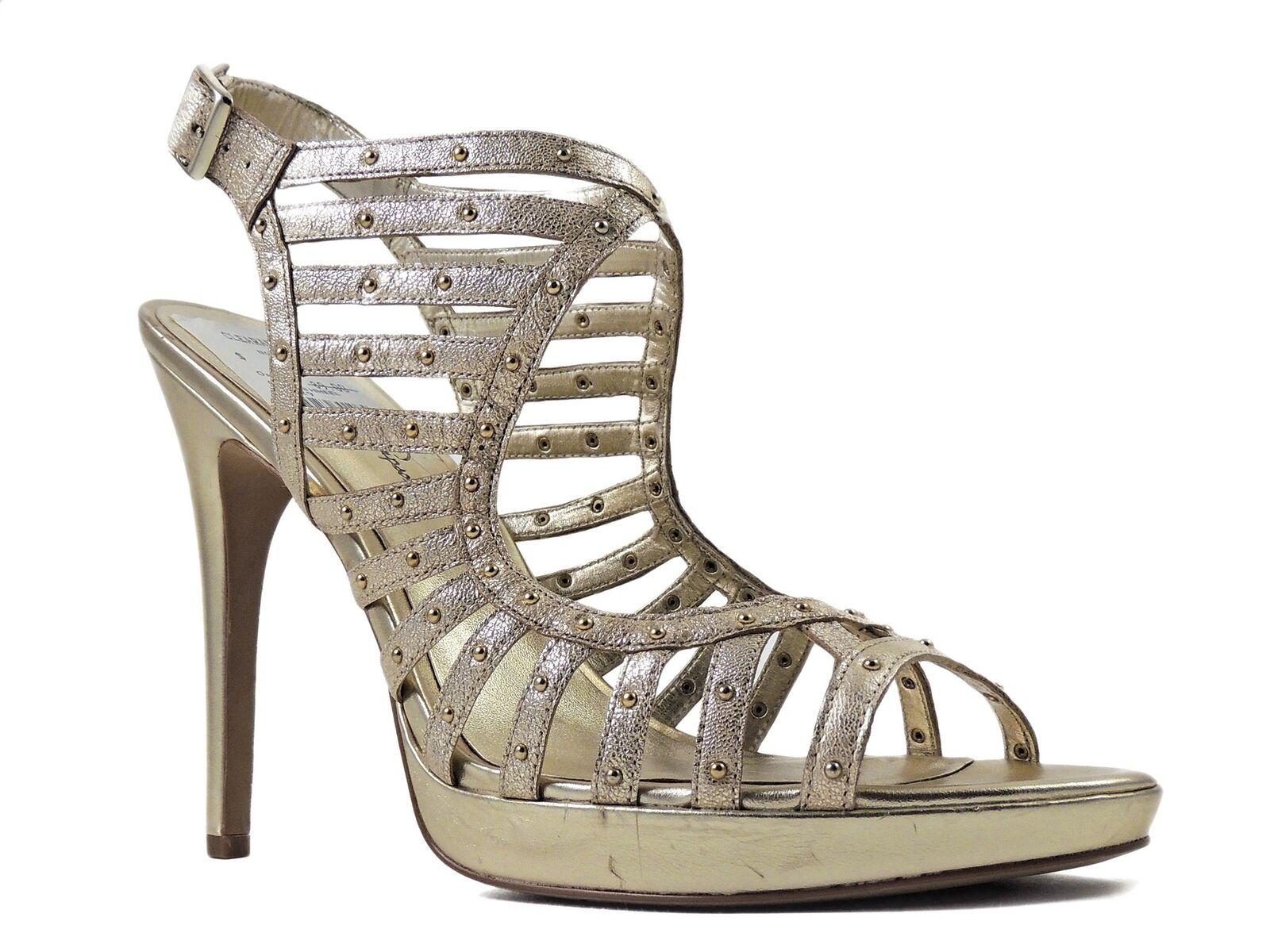 Jessica Simpson Women's Cesarini Platform Sandals Platinum Rock Dave Size 10 M