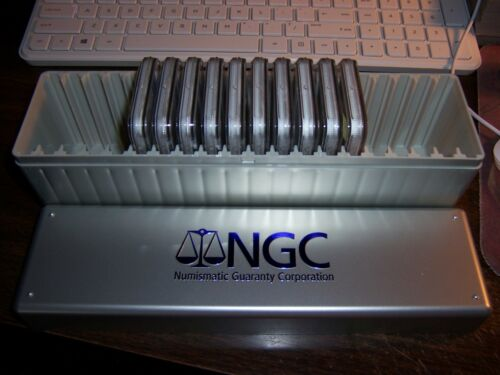 LOT OF 10 NGC COINS-AT LEAST 5 WILL BE PR 70 0R SP 70 NEW NGC STORAGE BOX!#V1
