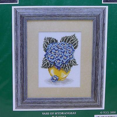 Hydrangeas Flowers Cross Stitch Kit Craft Collection Limited Aida Sealed NIP