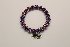 Patriotic-Military-Mom-Red-White-Blue-Charm-Bracelet