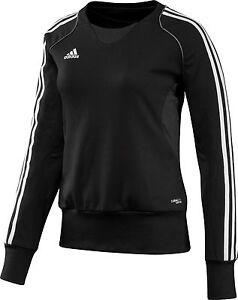 adidas-Damen-Trainingsshirt-schwarz-Sportshirt-Sportbekleidung-Gr-XS-44