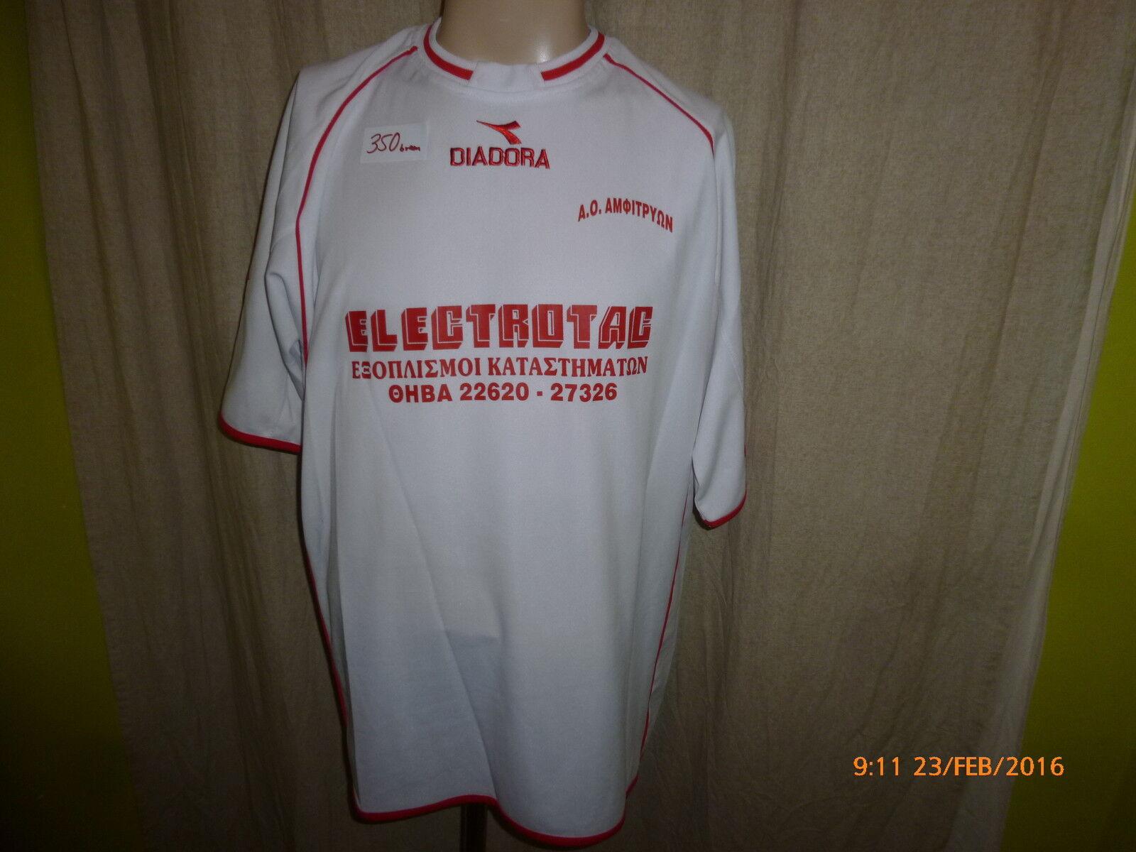 Kallithea Kallithea Kallithea FC Diadora Matchworn Trikot  ELECTROTAC  + Nr.19 Papakostandinu Gr.XL 8049e7