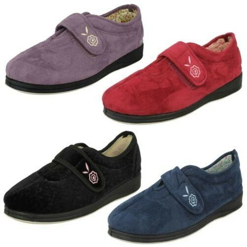 Ladies Padders Memory Foam Wide Fitting Slippers Camilla