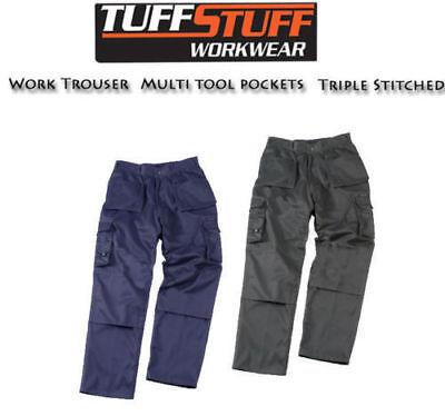 Cargo Combat Tuff Stuff Work Trouser Tough Knee Pad Trousers Heavy Duty All Size