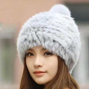 cd0f03bfb9d Winter Women Beanies Hat For Women s Real Mink Fox Fur Pom Poms Caps ...