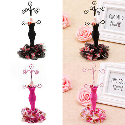 Hot Lady Mannequin Holder Earring Bracelet Necklace Jewelry Model Display Stand