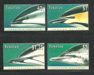 Album Schätze Tokelau Scott #228-231 Delphine Set Neuwertig Nh Tokelau