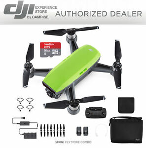 DJI-Spark-Fly-More-Combo-Drone-Quadcopter-in-GREEN-FREE-16GB-MICROSD-CARD