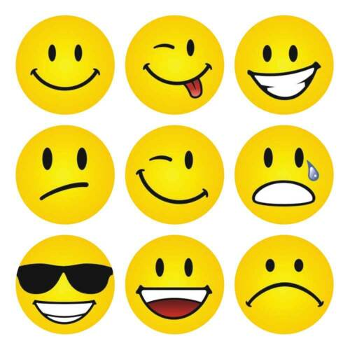 Yellow Smiley Faces Stickers for Schools Reward Kids Children Primary Early Year