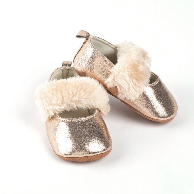 Fashion Infant Crib Toddler Soft Soled Prewalker Baby Shoes PU Leather