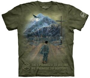 in Unisex di di ritorno Hero The militare montagna supporto Maglietta T14C8qn