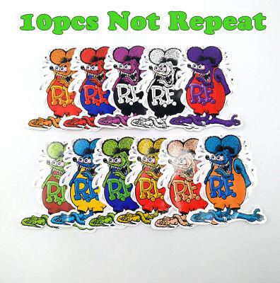 10pcs Random Ed Roth Vinyl Decal Car Big Daddy Hot Rods Rat Fink Stickers Mix