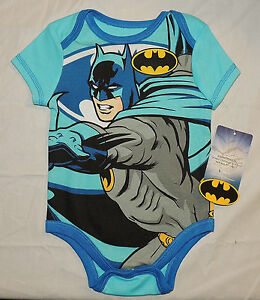 New Baby Sizes 0 thru 9 Months Bodysuit Batman Lil Crimefighter One Piece