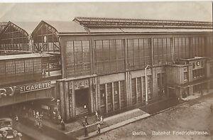AK-BAHNHOF-FRIEDRICHSTRASSE-1927-BAHNSTEMPEL-GELAUFEN-BAHNPOST-AK657