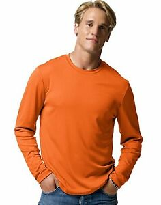 2-Hanes-Cool-DRI-Performance-Men-039-s-Long-Sleeve-T-Shirts-482L