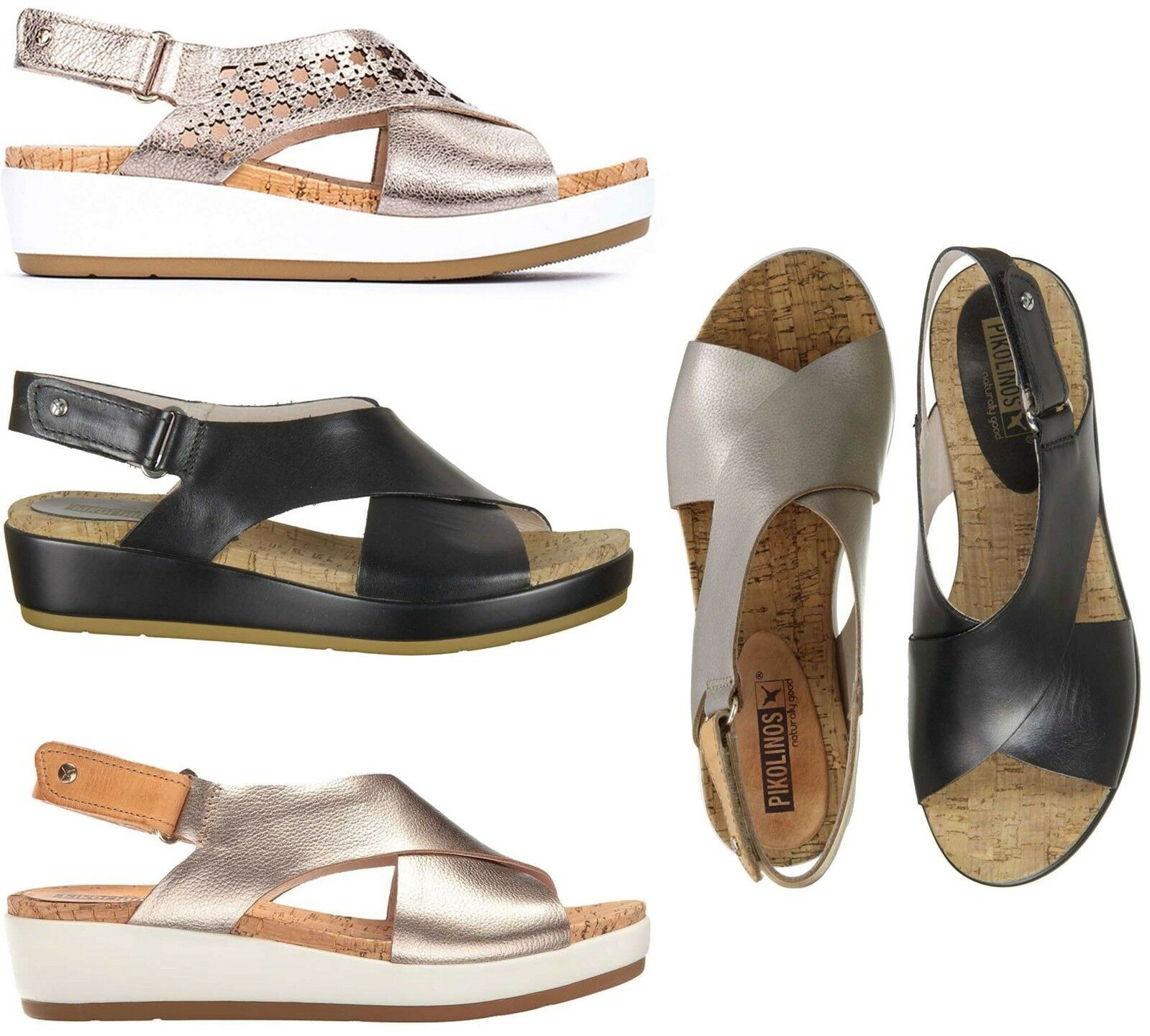 Pikolinos Leather Women Mykonos Comfort Leather Pikolinos Platform Summer Sandals NEW 8dd1d9