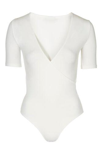 New Womens Sleeveless Racer Back Ladies Stretch Bodysuit Leotard Vest Tops 8-14