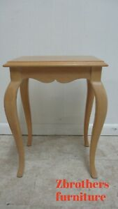 Ethan-Allen-Country-French-Bisque-Pedestal-End-Side-Table