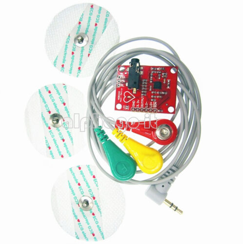 Single Lead AD8232 Pulse Heart Rate Monitor //ECG Kit Modul Für Arduino NEW