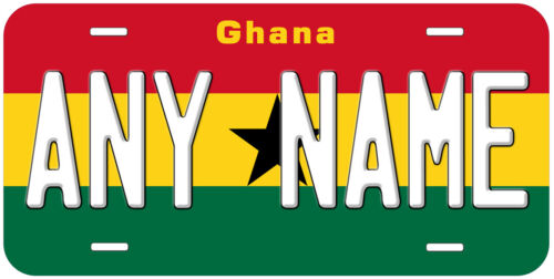 Ghana Flag Any Name Number Novelty Car Auto License Plate