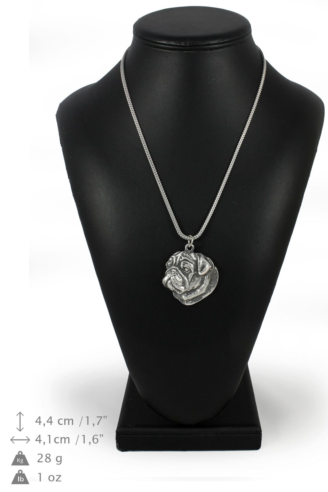 Carlin - collier en argento plaqué sur une chaîne en argento Art Dog FR