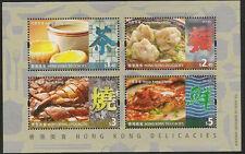 Hong Kong Delicacies stamp sheetlet MNH 2012