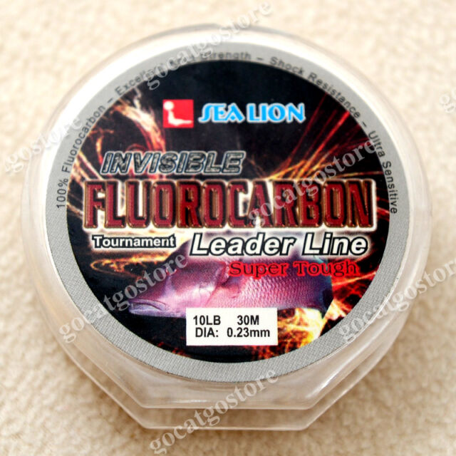 NEW Sea Lion 100% Made in Japan Fluorocarbon Leader Fishing Line 10LB 30M