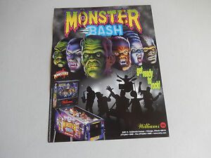 MONSTER-BASH-PINBALL-MACHINE-FLYER-arcade-game-ad