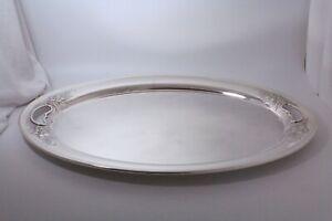 Gorham-Puritan-Chased-Sterling-Silver-Platter-Waiter-Tray