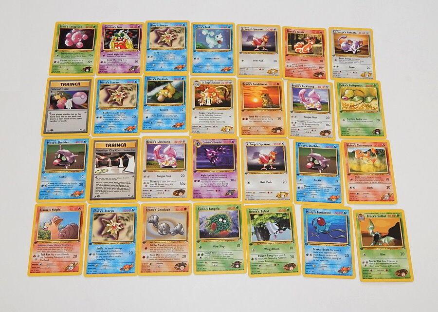 Viele 28 fitnessstudio helden erste ausgabe spielte mit pokémon - karten r9833