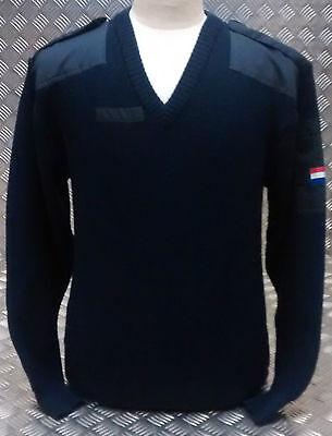 Genuine Vintage Dutch Navy V Neckneck Pull Over / Jumper Very Warm Wool - New Direktverkaufspreis