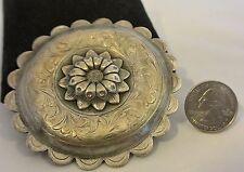 "3""+ XLarge EDWARD H. BOHLIN  Sterling Silver ""California Poppy"" Belt Buckle WOW"