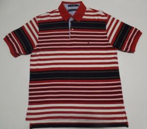 4e9f7832b Tommy Hilfiger men s Polo shirt Red   Blue   white Striped size ...