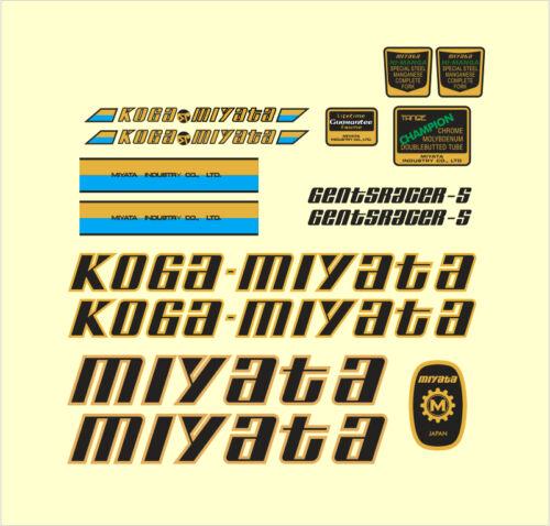 S FRAME DECAL SET KOGA MIYATA GENTS RACER