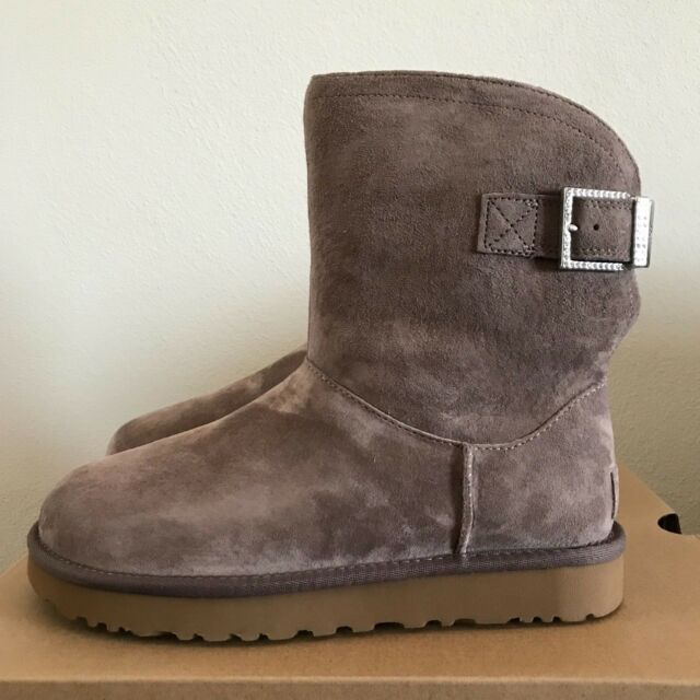 2e407ca7c7f UGG Womens Size 10 Remora Buckle BOOTS Stormy Gray Winter Short Warm 1092709