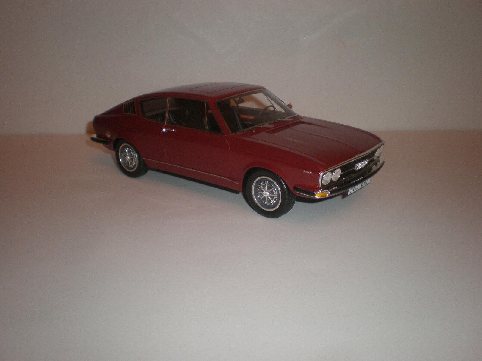 1 18 1970 AUDI 100 Coupe darröd LE 400 pcs. KK skala