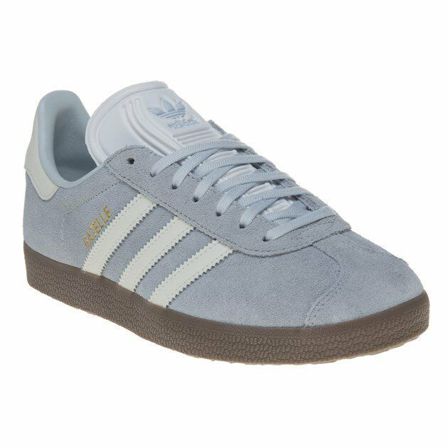 New Damenschuhe adidas Blau Gazelle Suede Trainers Retro Lace Up