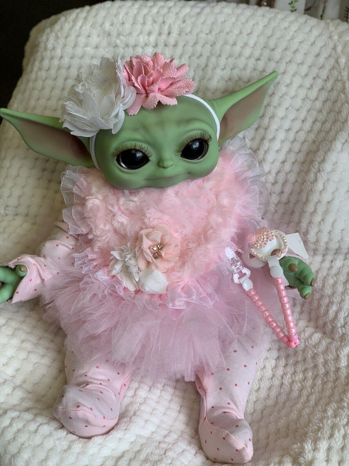 Reborn Baby Yoda Inspired Doll 20 Inch