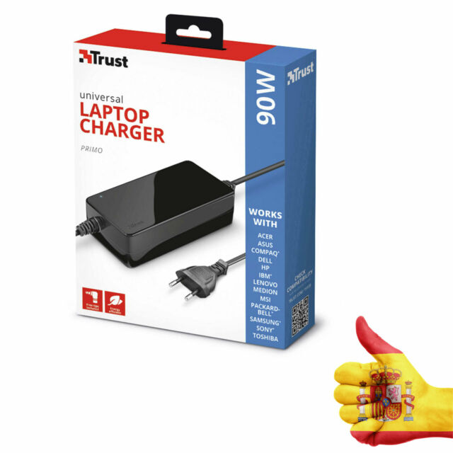 Caricabatterie Universale Per Portatile HP - 90W Primo Laptop Charger Nero