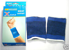 Excercise Wrist Supporter band unisex Blue colour Pair of 2 Bands