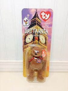 TY Teenie Beanie Babies Brittania The Bear McDonalds Promo 1999 NEW ... a7acf9c3cdc7